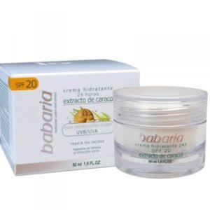 crème hydratante à la bave d'escargot visage